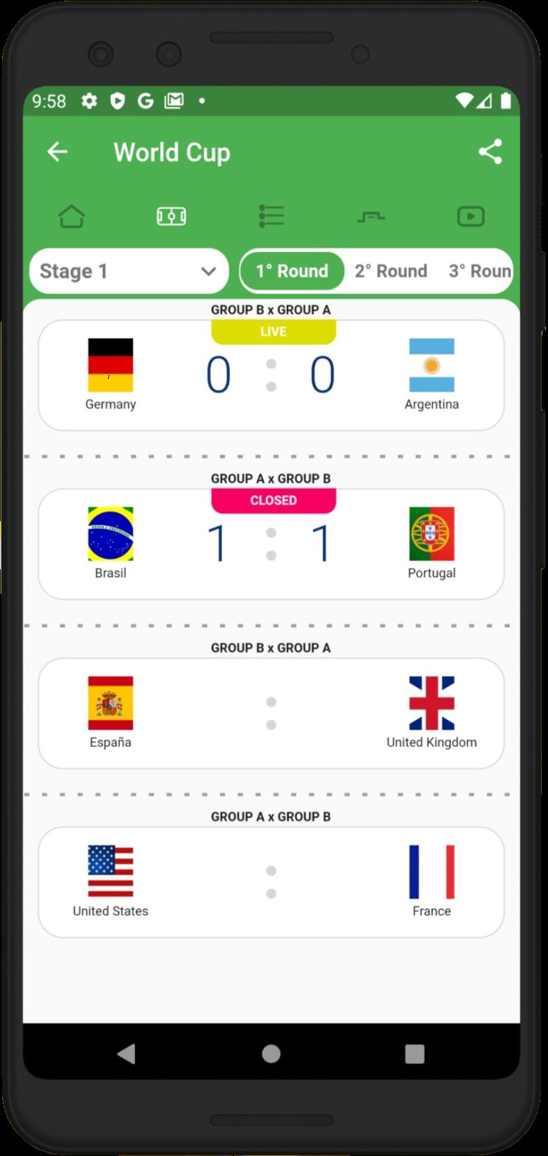 Tela do Aplicativo no iOS
